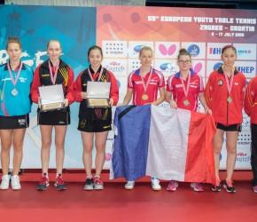 EJK 2016 - Podium dubbel meisjes juniors 2