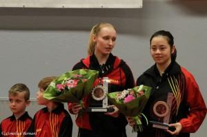 Europese kampioenen 2016 bij de juniors in het dubbel  - Eline Loyen en Lisa Lung
